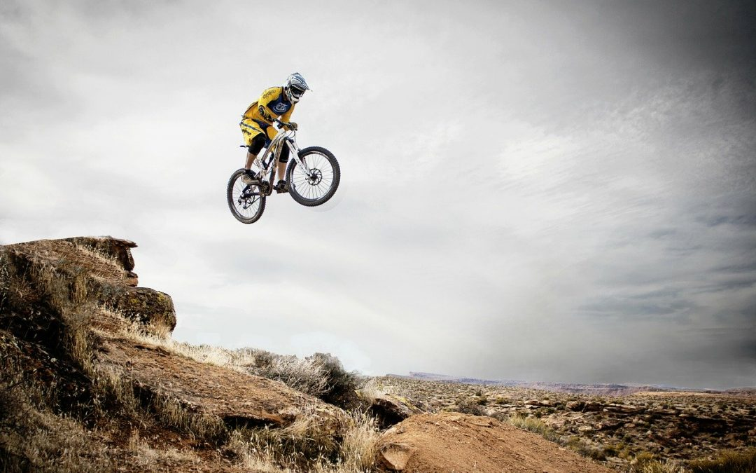 action sports bike jump